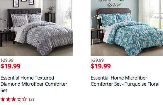 $19.99 Essential Home Comforter Set