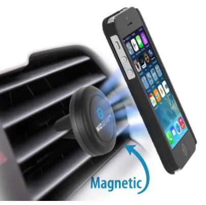 WizGear Universal Air Vent Magnetic Car Mount Holder with Fast Swift-Snap Technology for Smartphones and Mini Tablets