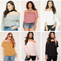 women off shoulder top - plus