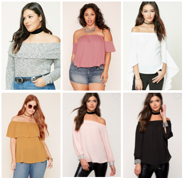 Women Off Shoulder Tops