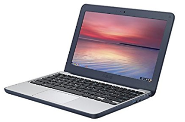 ASUS Chromebook C202SA-YS02 11.6″ Ruggedized and Water Resistant Design with 180 Degree Hinge (Intel Celeron 4 GB, 16GB eMMC, Dark Blue)