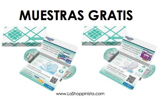 Muestra gratis de pads y liners de Equate