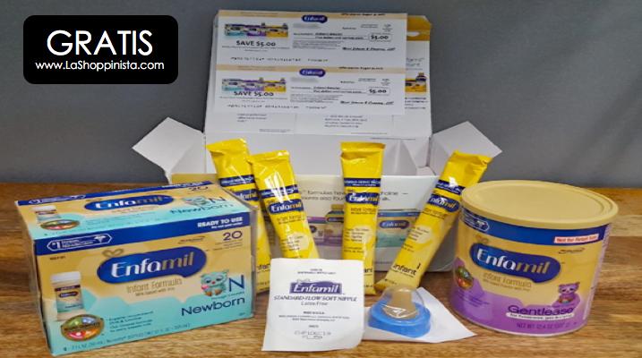 Gratis caja de productos Enfamil para tu bebe