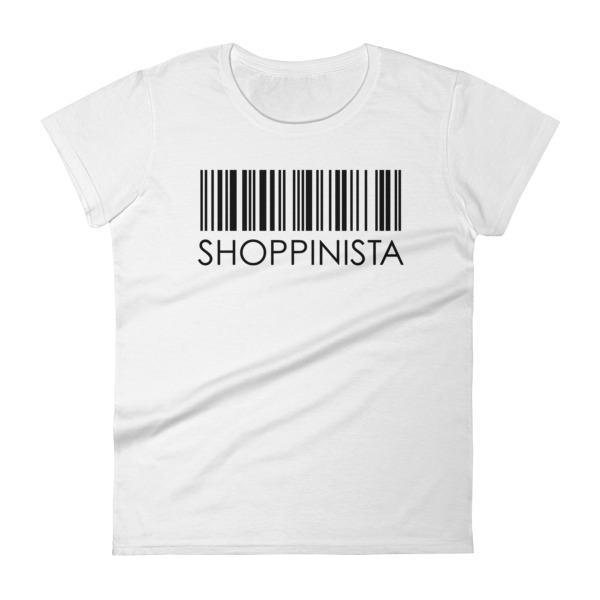 Shoppinista Barcode – Women's short sleeve t-shirt