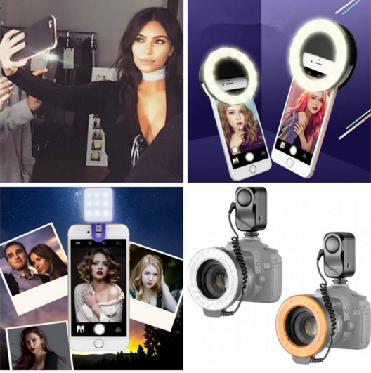 Selfie LED Ring Fill Light for iPhone Android Phone Camera