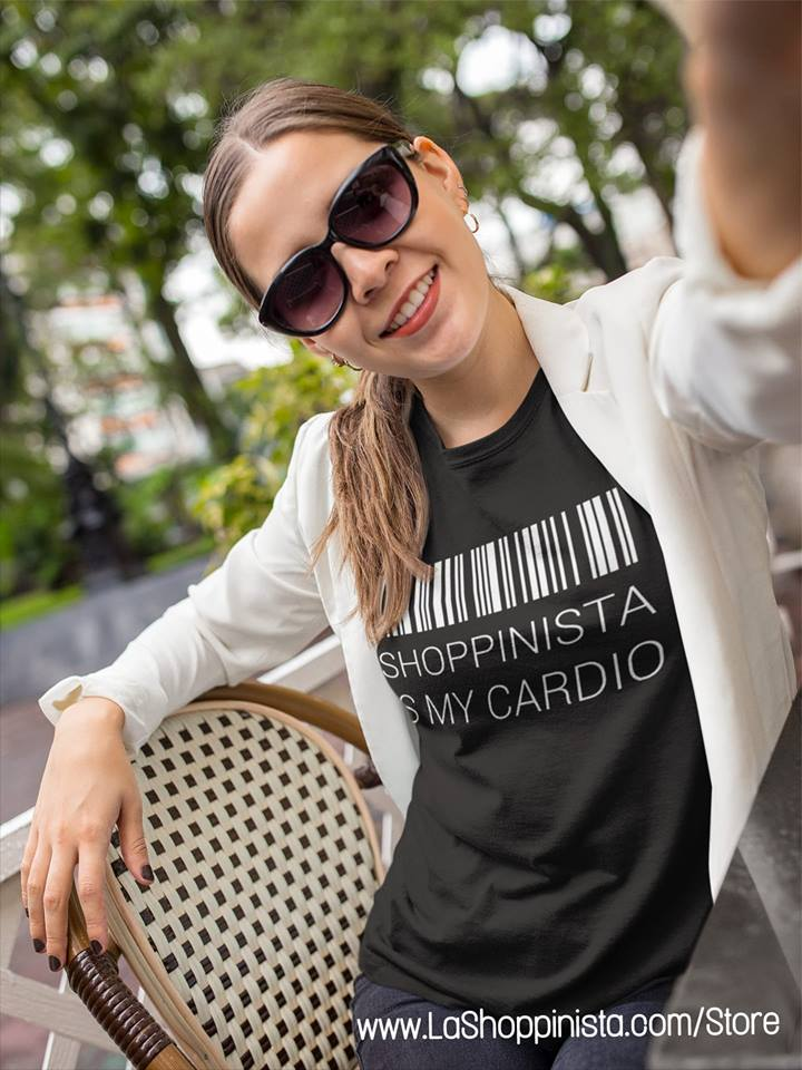 shoppinista is my cardio tshirt